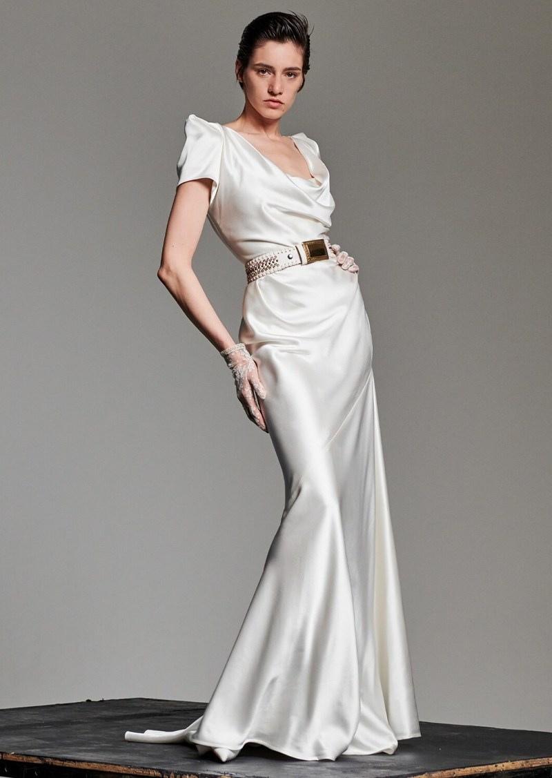 Vivienne Westwood Peace Silk Satin Dress