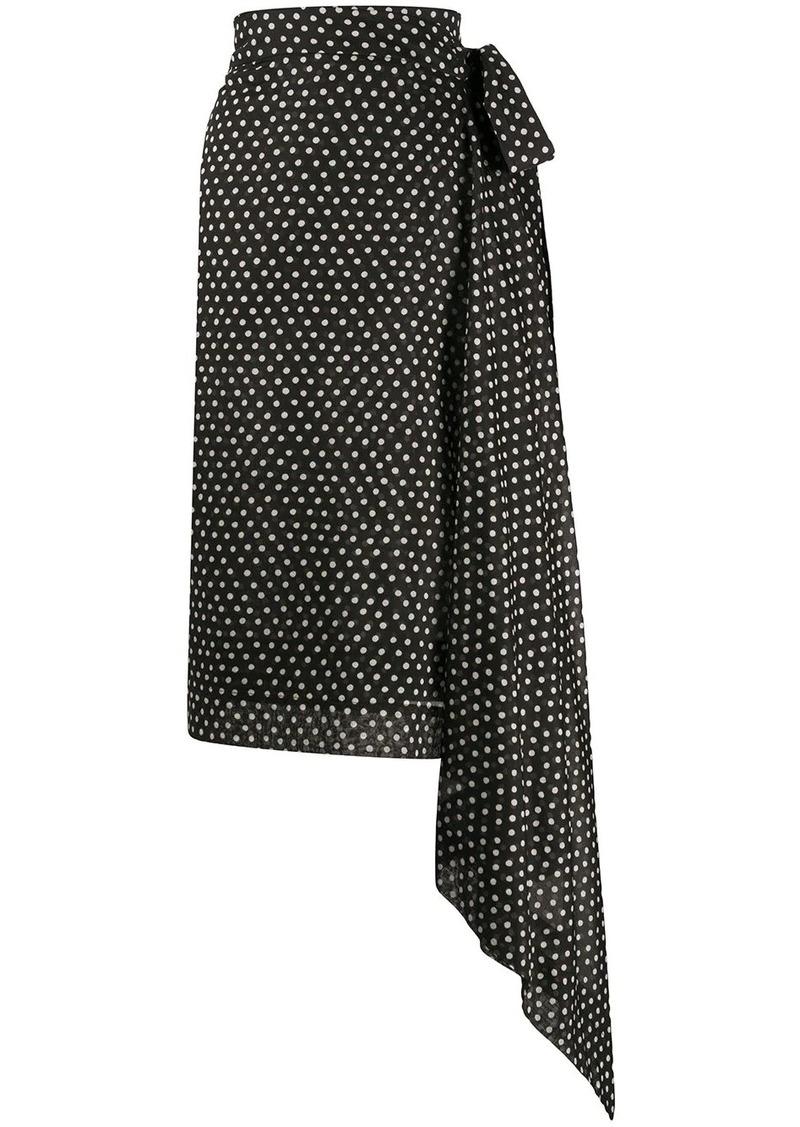 Vivienne Westwood polka dot wrap skirt