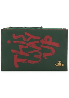 Vivienne Westwood Printed Leather Zip Pouch