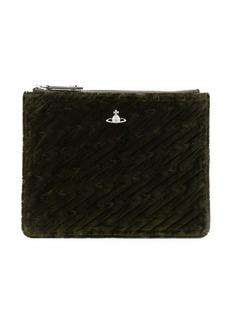 Vivienne Westwood quilted clutch bag