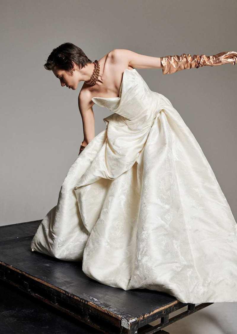 Vivienne Westwood Rose & Bird Silk Blend Jacquard Dress