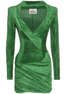 Vivienne Westwood Sara Lurex & Velvet Mini Dress