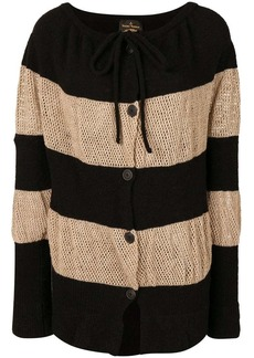 Vivienne Westwood stripe panelled cardigan