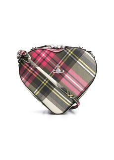 Vivienne Westwood tartan heart cross body bag