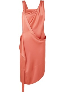 Vivienne Westwood Thea Draped Asymmetric Satin Dress