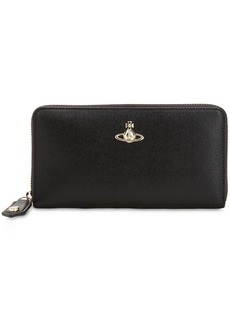 Vivienne Westwood Victoria Classic Leather Zip Wallet