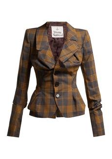 Vivienne Westwood Alcoholic tartan wool jacket