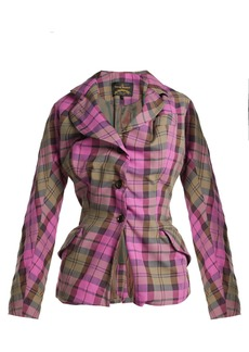 Vivienne Westwood Anglomania Single-breasted cotton-blend tartan jacket
