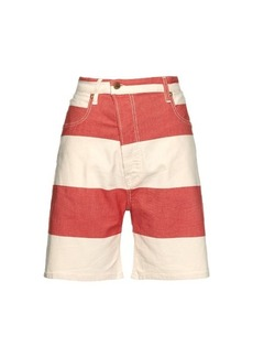 Vivienne Westwood Anglomania Bliss Bell striped denim shorts