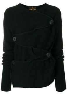 Vivienne Westwood Anglomania buttoned front jumper - Black