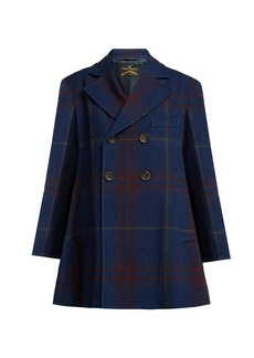 Vivienne Westwood Anglomania Checked cotton and wool-blend coat