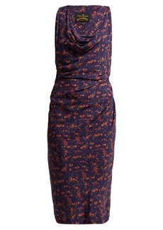 Vivienne Westwood Anglomania Draped floral-print midi dress