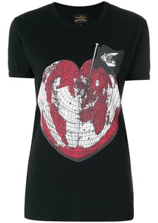 Vivienne Westwood Anglomania heart world print T-shirt - Unavailable