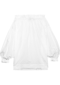 Vivienne Westwood Anglomania L'ete off-the-shoulder cotton-voile blouse