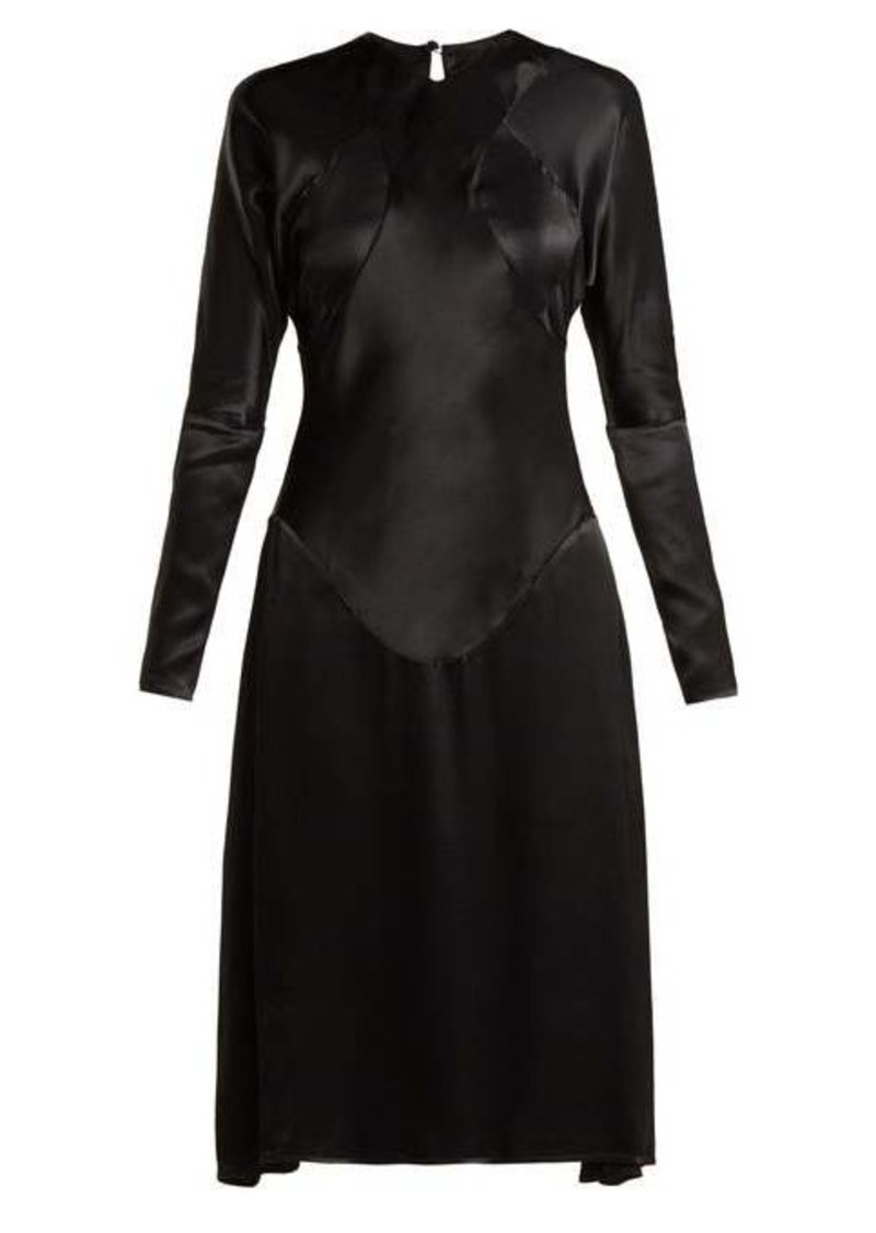 Vivienne Westwood Anglomania Panelled long-sleeved satin dress