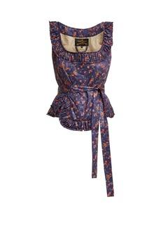 Vivienne Westwood Anglomania Revolution floral-print cotton bustier top