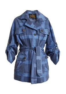 Vivienne Westwood Anglomania Safari checked tie-waist cotton jacket