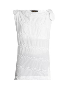 Vivienne Westwood Anglomania Shore zig-zag stitched top
