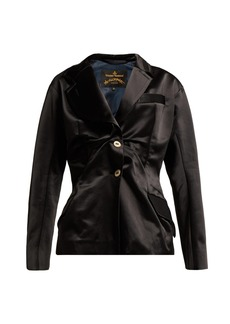 Vivienne Westwood Anglomania Single-breasted gathered satin blazer