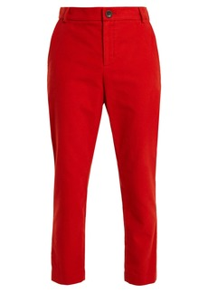 Vivienne Westwood Anglomania Straight-leg brushed-cotton trousers