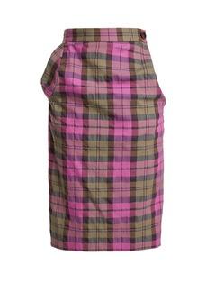 Vivienne Westwood Anglomania Tartan cotton-blend pencil skirt