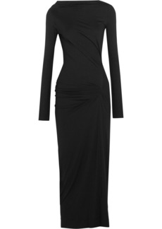 Vivienne Westwood Anglomania Taxa gathered stretch-jersey midi dress