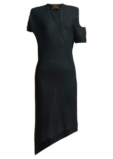 Vivienne Westwood Anglomania Timans asymmetric midi dress