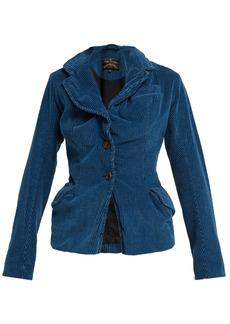 Vivienne Westwood Anglomania Twisted corduroy blazer