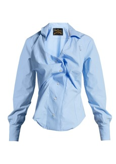 Vivienne Westwood Anglomania Twisted cotton-poplin shirt