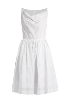 Vivienne Westwood Anglomania Twisted Monroe zigzag-stitched skater dress
