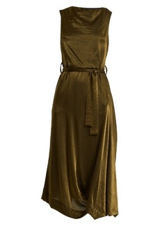 Vivienne Westwood Anglomania Vasari tie-waist asymmetric crepe dress