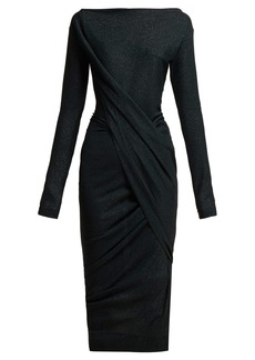 Vivienne Westwood Anglomania Vian draped asymmetric midi dress