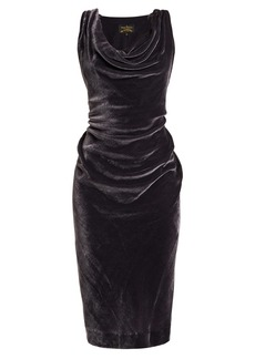 Vivienne Westwood Anglomania Virginia ruched velvet midi dress