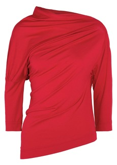 Vivienne Westwood Anglomania Woman Draped Stretch-jersey Top Red