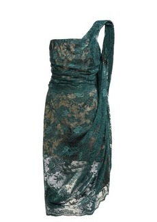 Vivienne Westwood Asymmetric floral-lace bustier midi dress