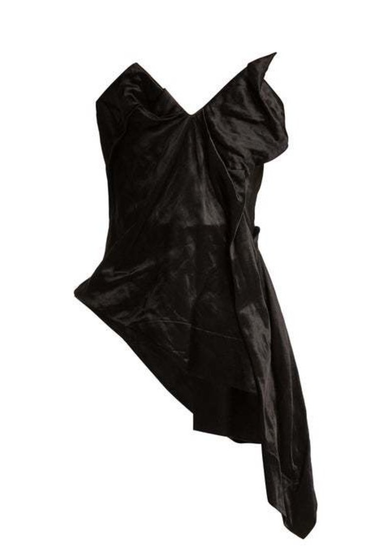 Vivienne Westwood Asymmetric satin corset
