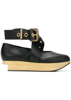Vivienne Westwood buckle ballerina platforms - Black