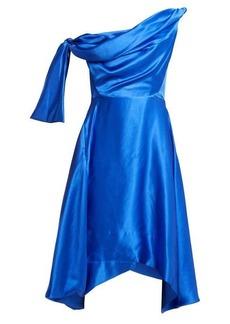 Vivienne Westwood Butternut draped asymmetric silk dress