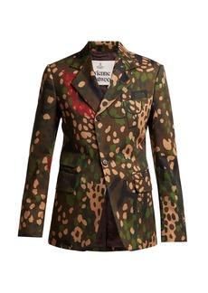 Vivienne Westwood Camouflage-print single-breasted cotton blazer