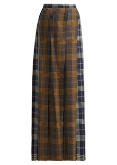 Vivienne Westwood Contrast-panel checked wool skirt