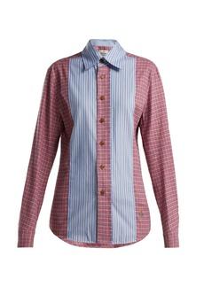 Vivienne Westwood Contrast patchwork cotton shirt