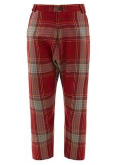 Vivienne Westwood Contrast tartan wool-twill trousers