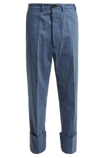 Vivienne Westwood Cropped cotton-flannel trousers