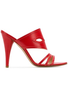 Vivienne Westwood cross strap sandals - Red