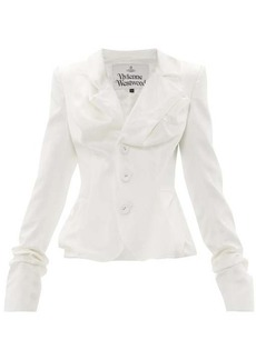Vivienne Westwood Draped single-breasted satin jacket