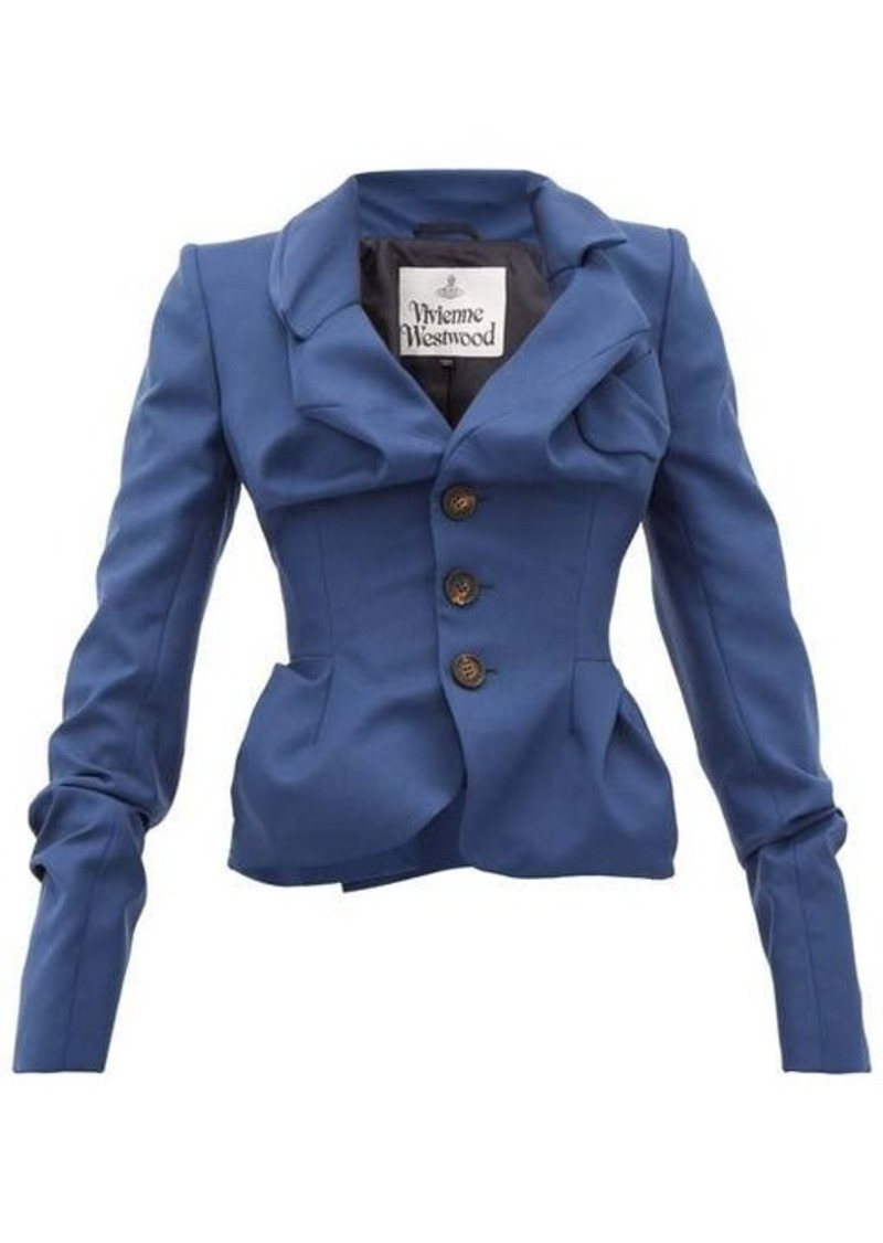 Vivienne Westwood Draped single-breasted virgin-wool jacket