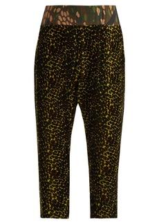 Vivienne Westwood Ela leopard-print velvet track pants