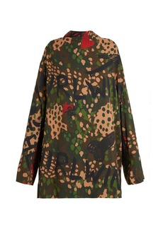 Vivienne Westwood Floral, graffiti and camouflage-print tunic