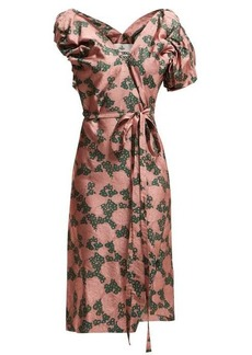 Vivienne Westwood Gabriella tie-waist floral-jacquard dress