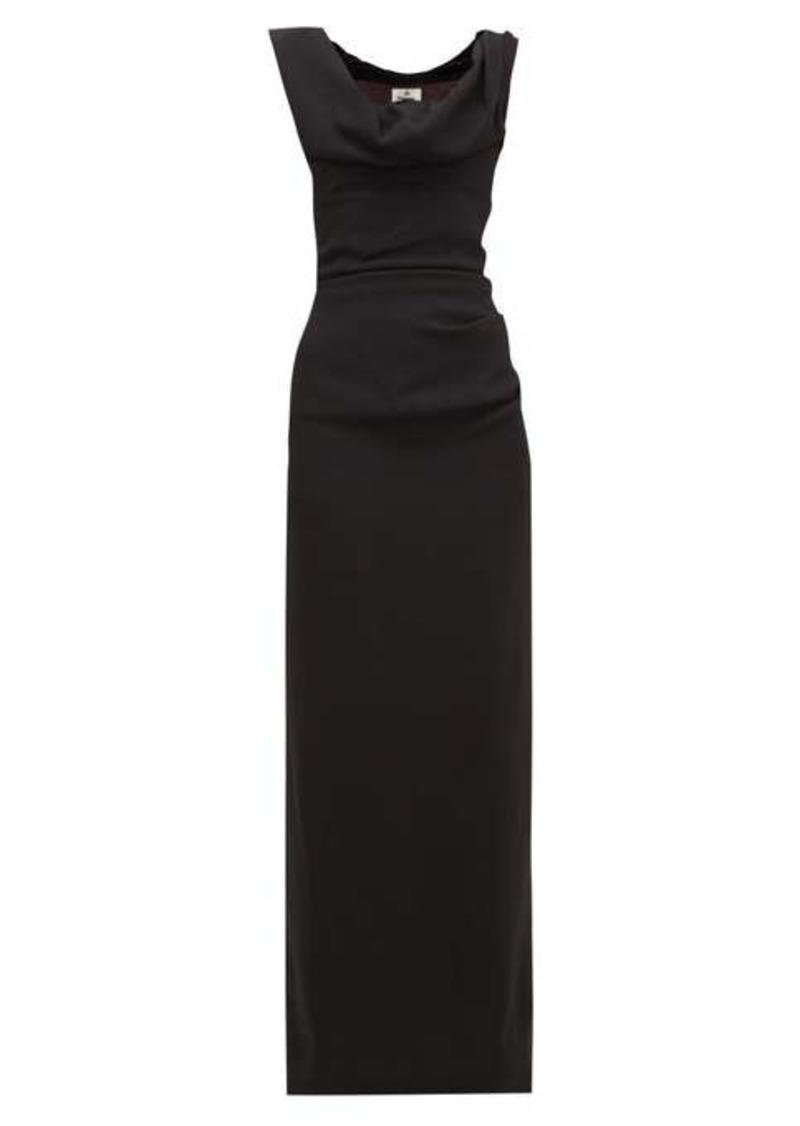 Vivienne Westwood Ginnie draped-neck crepe dress